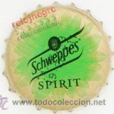 Coleccionismo de Coca-Cola y Pepsi: CHAPA DE REFRESCO SCHWEPPES SPIRIT LIMÓN -MÁS CHAPAS CERVEZA Y REFRESCOS EN VENTA - ESPAÑA. Lote 44109493