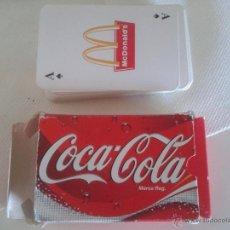 Coleccionismo de Coca-Cola y Pepsi: BARAJA CARTAS COCA COLA - MCDONALDS. Lote 44340612