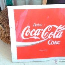 Coleccionismo de Coca-Cola y Pepsi: CARTEL COCA COLA AÑOS 80 PUBLICITARIO BEBIDA ORIGINAL 54*50 CM DECORATIVO ESTABLECIMIENTOS FIBRA . Lote 44344294