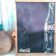 Coleccionismo de Coca-Cola y Pepsi: GRAN PIZARRA CARTEL COCA COLA AÑOS 80 ESTABLECIMIENTO BAR 50*80 CM PLASTICO FIBRA. Lote 44344307