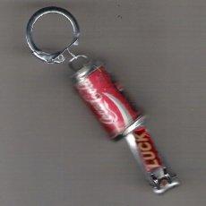 Coleccionismo de Coca-Cola y Pepsi: LLAVERO COCA COLA DEL QUE SALE DEL INTERIOR DE LA LATA CORTAUÑAS **RARO Y DIFICIL DE ENCONTRAR**. Lote 45219297