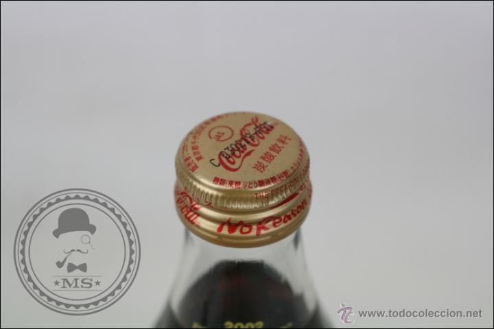 Coleccionismo de Coca-Cola y Pepsi: Botella de Coca Cola 250 Ml - Mundial de Fútbol de Corea 2002 - Llena - Medidas 19,5 Cm - Rareza - Foto 3 - 45243331