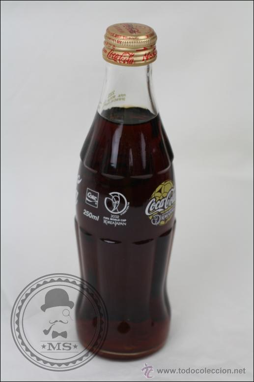 Coleccionismo de Coca-Cola y Pepsi: Botella de Coca Cola 250 Ml - Mundial de Fútbol de Corea 2002 - Llena - Medidas 19,5 Cm - Rareza - Foto 5 - 45243331