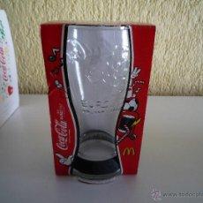 Coleccionismo de Coca-Cola y Pepsi: VASO CRISTAL MCDONALDS PULSERA DE GOMA NEGRA COCA-COLA EUROCOPA FUTBOL EURO 2012. Lote 49044541