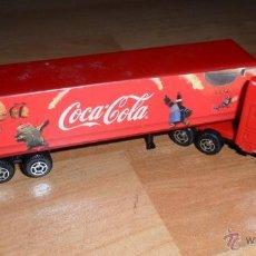 Coleccionismo de Coca-Cola y Pepsi: CAMIÓN PUBLICIDAD COCA COLA, MINIATURA PROMOCIONAL, REMOLQUE, TRAILER, ESCALA 1/87, NUEVO, AÑO 2002. Lote 45528676