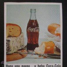 Coleccionismo de Coca-Cola y Pepsi: ANUNCIO RECORTE PUBLICIDAD COCA COLA, COCACOLA AÑOS 50 ,CROMOLITOGRAFIA.. Lote 45675586