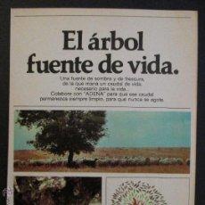 Coleccionismo de Coca-Cola y Pepsi: ANUNCIO RECORTE PUBLICIDAD COCA COLA, COCACOLA , AÑOS 70 .. Lote 45675706