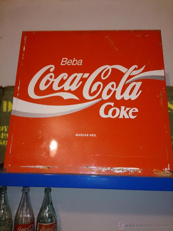 Antigua chapa placa cartel de cocacola a os 6 comprar - Chapa coca cola pared ...