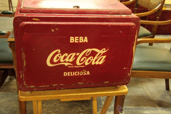 Coleccionismo de Coca-Cola y Pepsi: ANTIGUA NEVERA DE COCA COLA, ORIGINAL, - Foto 2 - 45806143