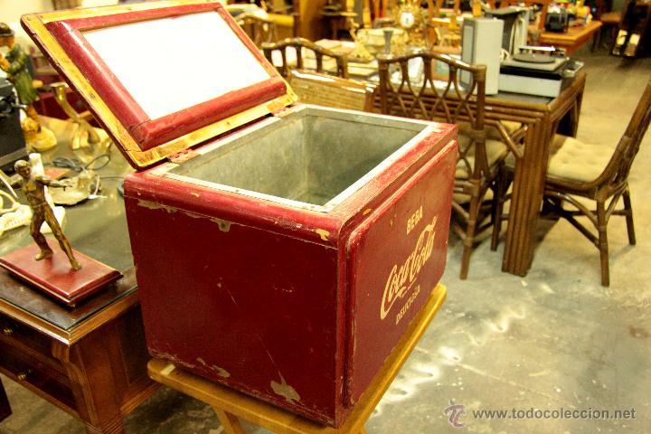 Coleccionismo de Coca-Cola y Pepsi: ANTIGUA NEVERA DE COCA COLA, ORIGINAL, - Foto 3 - 45806143
