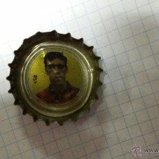 Coleccionismo de Coca-Cola y Pepsi: CHAPA DE COCA COLA DE 1995 CON CROMO DE PIER SELECCION ESPAÑOLA. Lote 46084497
