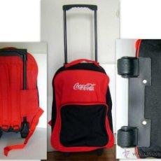 Coleccionismo de Coca-Cola y Pepsi: MALETA CON RUEDAS MOCHILA TROLLEY NIÑOS PUBLICIDAD COCACOLA, DE LONA. Lote 46707064