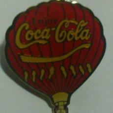 Coleccionismo de Coca-Cola y Pepsi: COCA COLA - ANTIGUO PIN GLOBO AEROESTATICO CON LEYENDA: ENJOY. Lote 46721990
