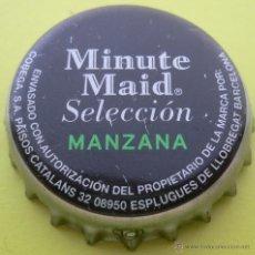 Collectionnisme de Coca-Cola et Pepsi: CHAPA ZUMO MINUTE MAID SELECCIÓN MANZANA -SPAIN- KRONKORKEN DIRECCIÓN DE BARCELONA FABRICANTE -TCI-. Lote 241328200