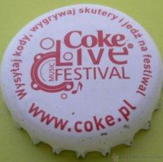 Collectionnisme de Coca-Cola et Pepsi: CHAPA COCA-COLA -POLAND- KRONKORKEN TAPPI FABRICANTE -CP-. Lote 186097818