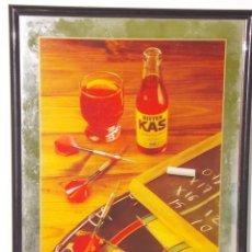 Coleccionismo de Coca-Cola y Pepsi: ANTIGUO CUADRO ESPEJO PUBLICIDAD BEBIDA BITTER KAS ORIGINAL. Lote 46878195