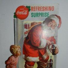 Coleccionismo de Coca-Cola y Pepsi: (M) DISPLEY DE CARTON COCA-COLA , SERVE COCA-COLA REFRESHING SURPRISE, DISPLEY AÑOS 50. Lote 46907415