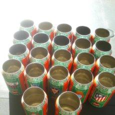 Coleccionismo de Coca-Cola y Pepsi: LOTE 22 LATAS COCA COLA. LIGA FÚTBOL 96 97. CELTA ESPAÑOL REAL MADRID TENERIFE. Lote 186027546