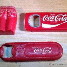 Coleccionismo de Coca-Cola y Pepsi: LOTE DE 3 ABRIDORES COCA-COLA. Lote 47552582