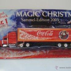Coleccionismo de Coca-Cola y Pepsi: CAMION COCA COLA TRAILER MOTIVO NAVIDAD 2003 EN BLISTER SIN ABRIR. Lote 48216125