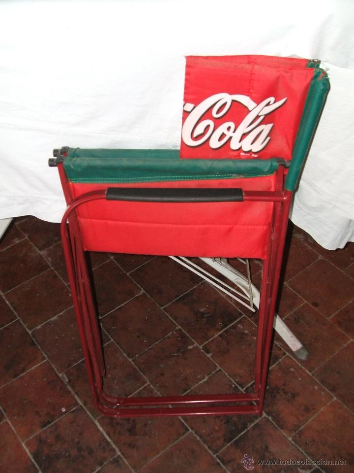 Silla coca cola tipo director plegable comprar for Sillas tipo director