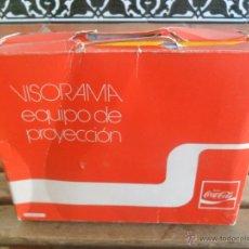 Coleccionismo de Coca-Cola y Pepsi: VISORAMA EQUIPO DE PROYECCION COCA COLA CON 60 CROMOS DE OLIMPIADAS REGALO CHAPA BOTELLA AÑO 1976. Lote 48275337
