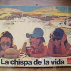 Coleccionismo de Coca-Cola y Pepsi: CARTEL PUBLICITARIO DE COCA COLA PARA BARES. MUY ANTIGUO. Lote 48452691