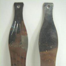 Coleccionismo de Coca-Cola y Pepsi: ABRIDOR BOTELLA - COCA-COLA METALICO - FORMA DE BOTELLA 15 CMS - COCACOLA COKE . Lote 48501056