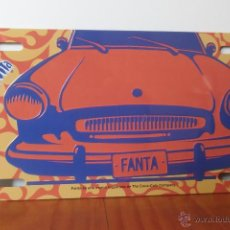 Coleccionismo de Coca-Cola y Pepsi: CHAPA PATENTE METALICA DE PUBLICIDAD FANTA NARANJA - PLACAS- MATRICULA- BEBIDA- REFRESCOS- COCA COLA. Lote 48642134