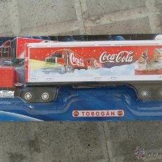 Coleccionismo de Coca-Cola y Pepsi: CAMIÓN PUBLICIDAD COCA COLA, MINIATURA PROMOCIONAL, REMOLQUE, TRAILER, NUEVO, AÑO 2002.. Lote 48907545