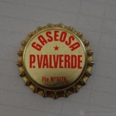 Coleccionismo de Coca-Cola y Pepsi: CHAPA O TAPÓN DE CORONA GASEOSA P. VALVERDE FTE. 5175 // SIN USO MUY DIFÍCIL. Lote 190644803