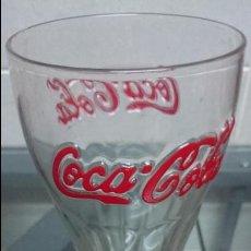 Coleccionismo de Coca-Cola y Pepsi: 3 VASOS DE COCACOLA LOGO EN RELIEVE. Lote 49292016