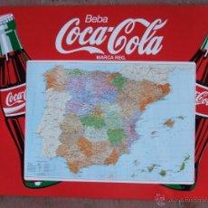Coleccionismo de Coca-Cola y Pepsi: CARTEL CHAPA PLACA METÁLICA COCA-COLA CON MAPA DE ESPAÑA.. Lote 49372692