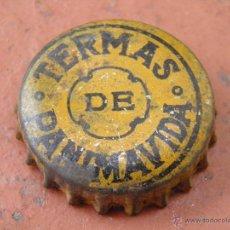 Coleccionismo de Coca-Cola y Pepsi: ANTIGUA CHAPA CORCHO AGUA TERMAS DE PANIMAVIDA. CHILE. AÑOS 20. MUY RARA.---LOTE N. 992---CARMANJO. Lote 49563427