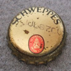 Coleccionismo de Coca-Cola y Pepsi: CHAPA SCHWEPPES TONICA / CHAPA / MITAD DE LOS 80 CON FECHA DE CADUCIDAD 1987. Lote 49686899