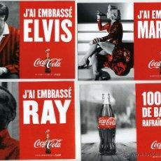 Coleccionismo de Coca-Cola y Pepsi: MARILYN, ELVIS Y OTROS. ANUNCIO DE COCA-COLA, YO HE BESADO A.... 6 POSTALES.. Lote 49763310