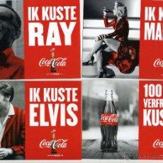 Coleccionismo de Coca-Cola y Pepsi: MARILYN, ELVIS Y OTROS. ANUNCIO DE COCA-COLA, YO HE BESADO A.... 6 POSTALES.. Lote 49763364