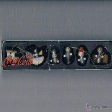 Coleccionismo de Coca-Cola y Pepsi: LOTE NAVIDAD COCA COLA PUBLICIDAD FIGURAS ARBOL NAVIDAD Y CAJA DE CARTÓN CAMIÓN COCACOLA. Lote 50094828