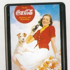 Coleccionismo de Coca-Cola y Pepsi: COCA COLA. CARTEL DE HOJALATA LITOGRAFIADO, BORDE CON RELIEVE. 10,2 X14,5 CMS . VELL I BELL. Lote 50349722