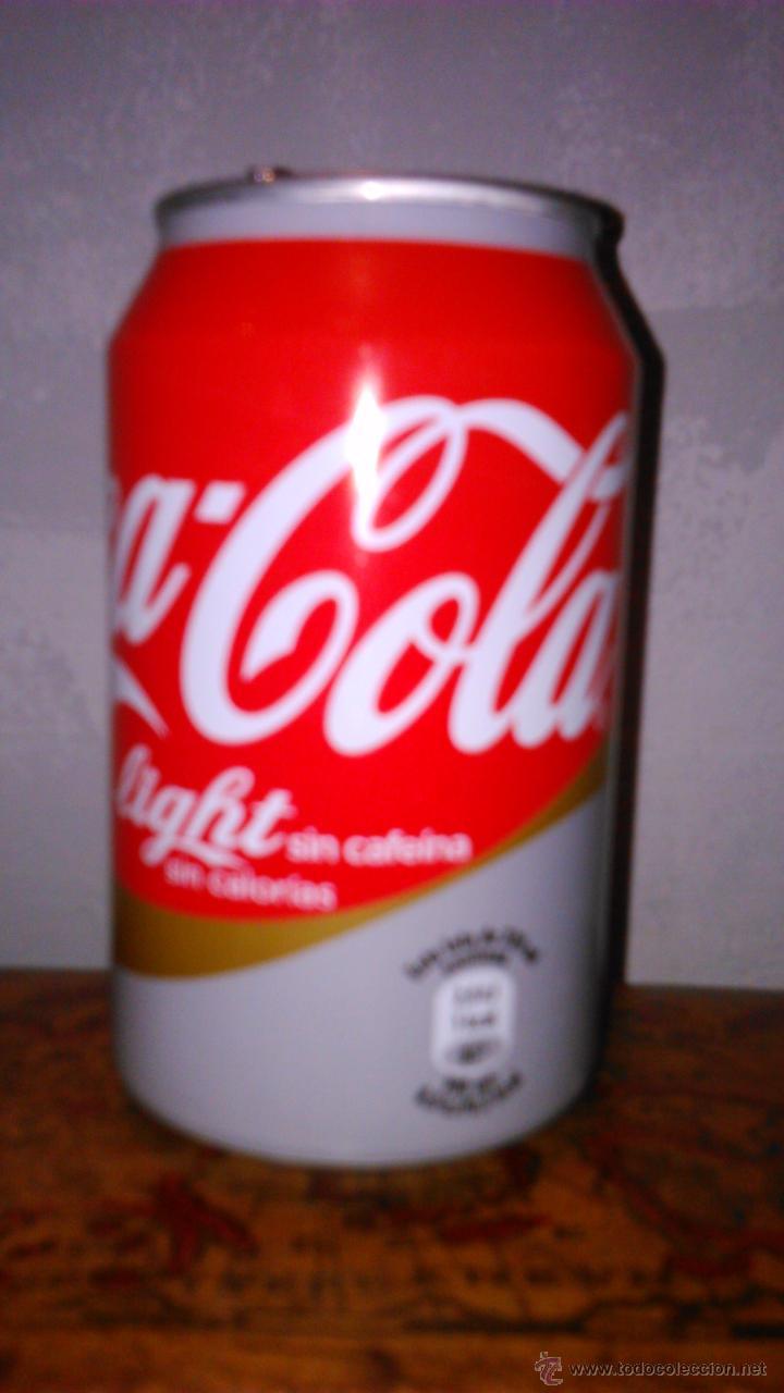 LATA VACÍA DE COCA-COLA LIGHT SIN CAFEINA (Coleccionismo - Botellas y Bebidas - Coca-Cola y Pepsi)