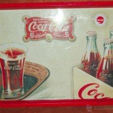 Coleccionismo de Coca-Cola y Pepsi: BANDEJA METALICA DE PROMOCION DE COCA COLA, COCACOLA, PARA SERVIR BEBIDAS, TAPAS, DESAYUNO, AÑOS 90.. Lote 121488748