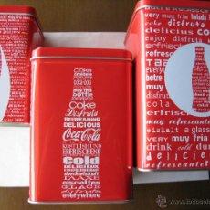 Coleccionismo de Coca-Cola y Pepsi: COCA-COLA. LOTE TRES LATAS PROMOCION. VER FOTOS. COMO NUEVAS.. Lote 50968324