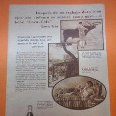 Coleccionismo de Coca-Cola y Pepsi: PUBLICIDAD 1930 - COLECCION REFRESCOS - COCA COLA Y LA VEDETTE CELIA GÁMEZ TORERO CHICUELO. Lote 51072037