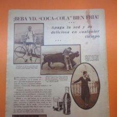 Coleccionismo de Coca-Cola y Pepsi: PUBLICIDAD 1930 -COLECCION REFRESCOS - COCA COLA Y LA VEDETTE CONCHITA PIQUER TORERO MARCIAL LALANDA. Lote 51072063