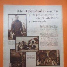 Coleccionismo de Coca-Cola y Pepsi: PUBLICIDAD 1930 - COLECCION REFRESCOS - COCA COLA Y RICARDO ZAMORA ANGEL ARCHE DIRT-TRUCK. Lote 51072120