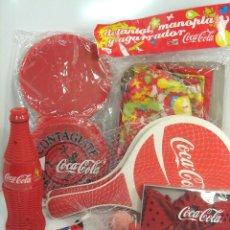 Coleccionismo de Coca-Cola y Pepsi: LOTE 9 ARTICULOS PROMOCION COCA-COLA - RADIO,BOLIGRAFO,PALAS,MARACA,CDS,PALAS,....ETC COKE COCACOLA. Lote 51259411