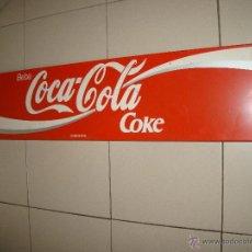 Coleccionismo de Coca-Cola y Pepsi: ANTIGUO CARTEL DE COCA COLA METALICO - 1 METRO X 22 CM.. Lote 51634896