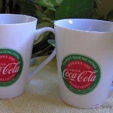 Coleccionismo de Coca-Cola y Pepsi: LOTE DE DOS TAZAS COLECCIÓN COCA COLA VINTAGE EN PORCELANA CREO QUE SON DE LA DÉCADA DE LOS 80. Lote 51933898