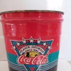 Coleccionismo de Coca-Cola y Pepsi: CUBO LATA COCA COLA - 1990 - FRANCIA - MUY EXCLUSIVO - FANTASTICO LOGO ATLANTA - GEORGIA. Lote 52477968