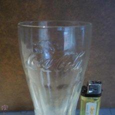 Coleccionismo de Coca-Cola y Pepsi: ANTIGUO VASO PEQUEÑO COCA COLA TRANSPARENTE LETRAS EN RELIEVE MIRAR MI OTRA CRISTALERIA. Lote 52478478